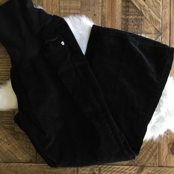 Motherhood Maternity Pants - MOTHERHOOD MATERNITY Black Corduroy Pants